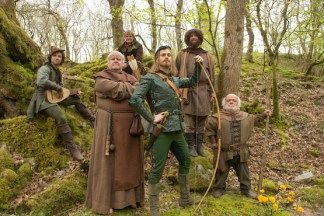"""Robin Hood and his Merry Men in """"Robot of Sherwood""""."""