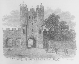 Micklegate in the City of York from Ivanhoe (1871 edition).