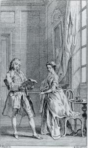 Frontispiece to Pamela, Vol. 1 (1740).