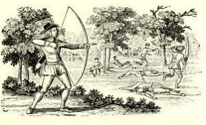 Thomas Bewick, 'Robin Hood and the Tanner' ed. by Joseph Ritson, Robin Hood: A Collection of All the Ancient Poems, Songs, and Ballads, Now Extant, Relative to that Celebrated English Outlaw (1795).