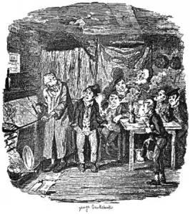 Fagin and his Gang - Illustration by George Cruikshank (1838)