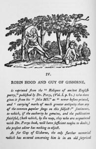 Thomas Bewick's Illustration to Robin Hood and Guy of Gisborne