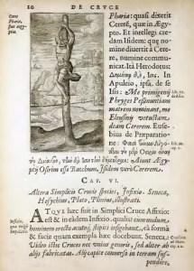 Woodcut of crux simplex (1594)