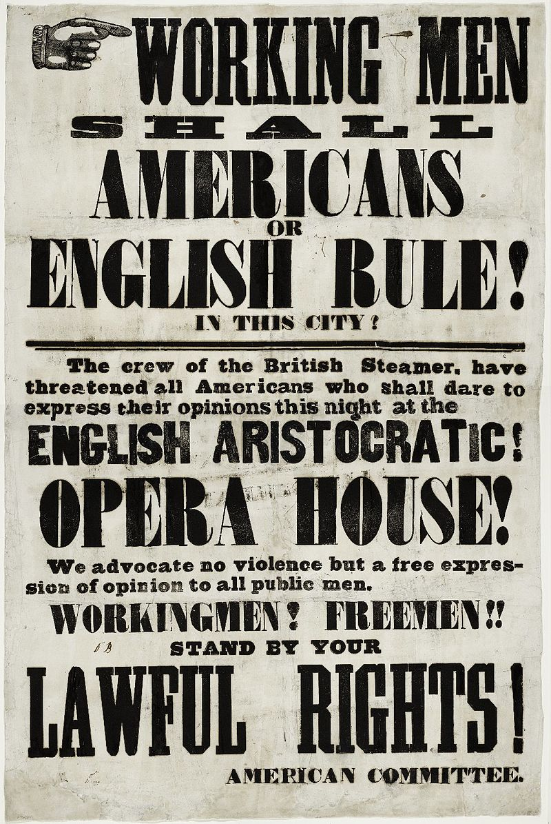 Astor_Place_riots_handbill_(1849)