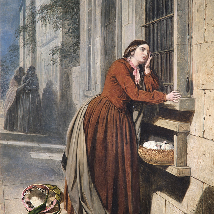 ATC_06_Henry-Nelson-ONeil-A-Mother-Depositing-Her-Child-at-the-Foundling-Hospital-in-Paris-1855-©-The-Foundling-Museum