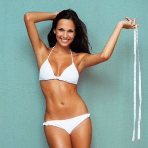 Woman after tummy tuck