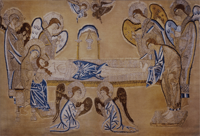 Tikhvin Epitaphios. Second half of the 15th century. Russian State Museum.