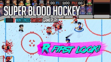 Super Blood Hockey - First Look - Nintendo Switch Gameplay