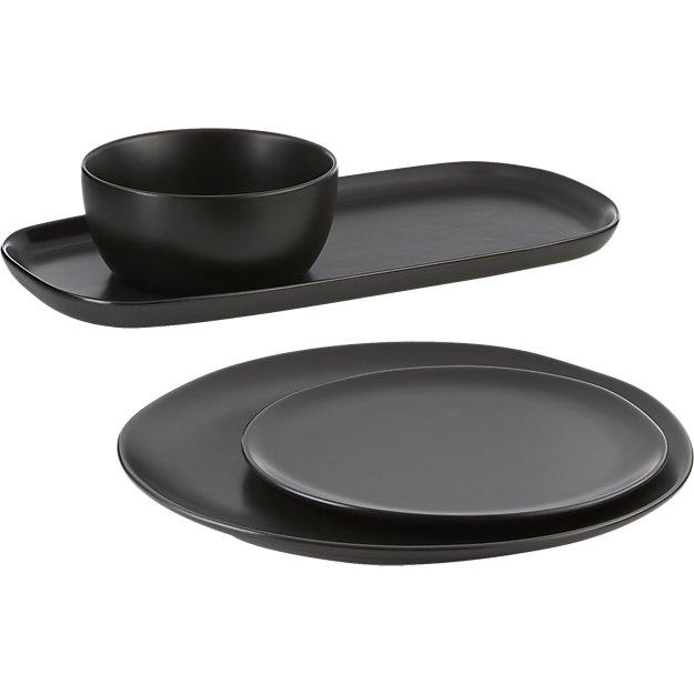 Crisp Matte Black Dinnerware  sc 1 st  Rezel Kealoha & Crisp Matte Black Dinnerware - Rezel Kealoha
