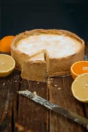 Ricotta Zitronen Orangen Käsekuchen