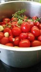 Tomatensugo Herstellung