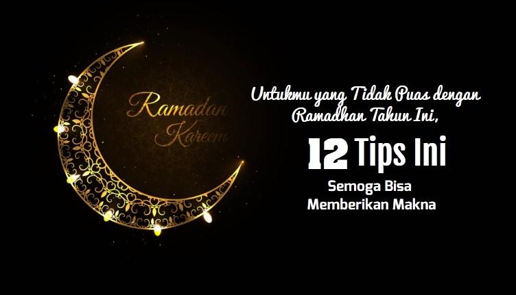 12 Tips Ramadhan