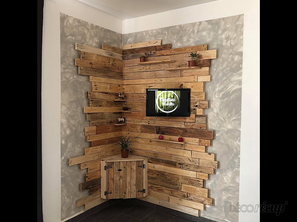 meuble tv en palette par creationspalettes