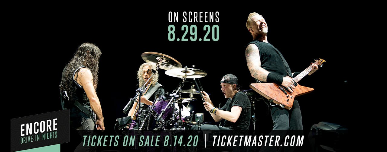 Metallica To Air New Concert At Drive-in Theaters Across The US on August 29th, 2020