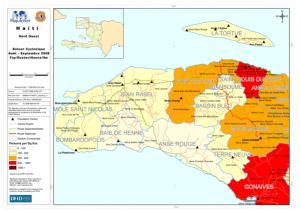 Carte du Nord`Ouest d Haiti