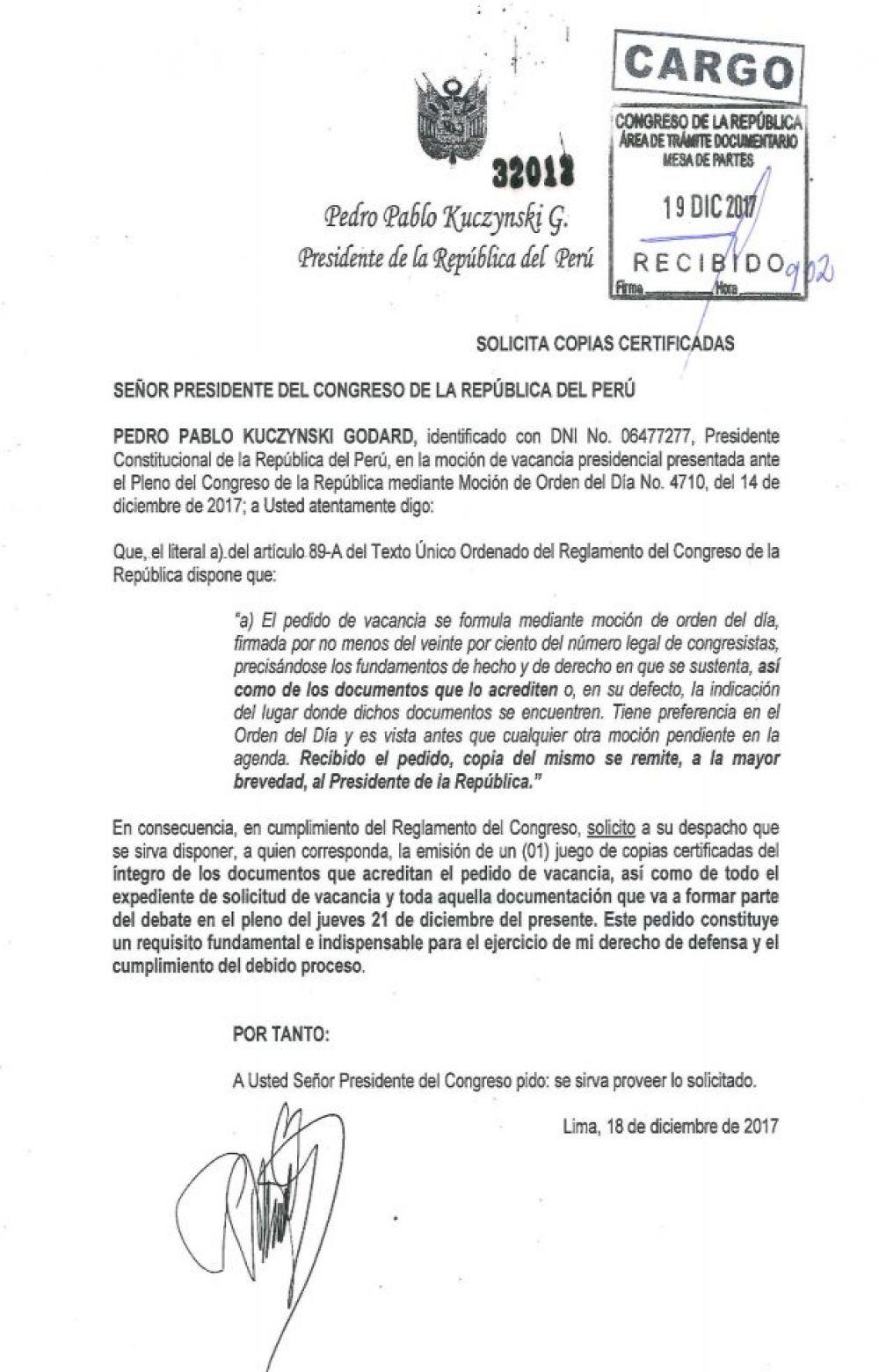 Perou Corruption Le President A Destituer Jeudi Demande Au