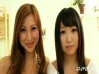 愛咲れいらが黒髪美少女とレズキスしまくるrezu動画