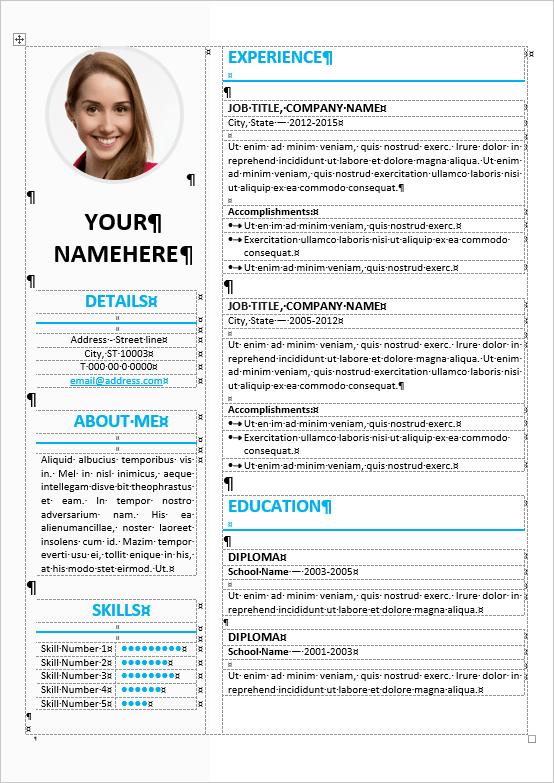Ikebukuro Elegant Resume Template