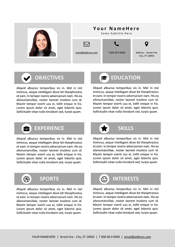 Explore these 3 best places to get free resume templates and decorate your resume to open door of unlimited opportunities. My First Resume Template For Kids