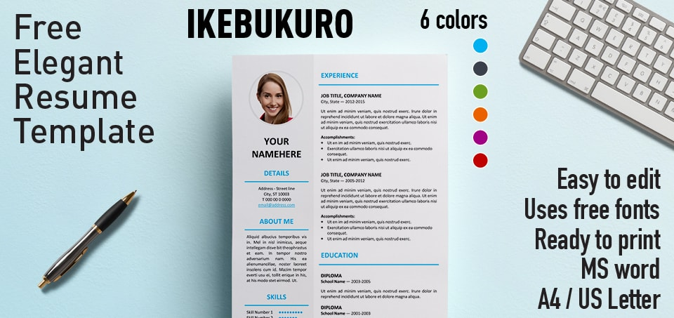 This may seem like a lot of pressure, but getting the right format for a resume is easier than it seems at first. Ikebukuro Elegant Resume Template
