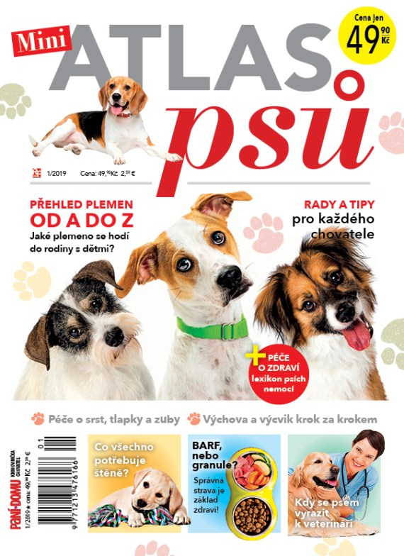 Aktuální číslo časopisu Knihovnička Miniatlas psů
