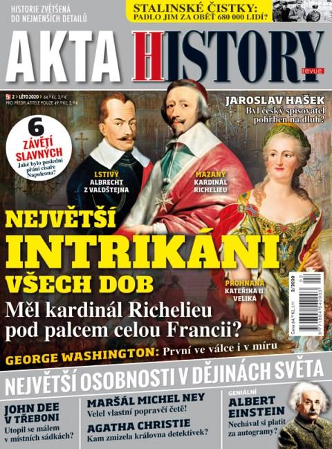 Aktuální číslo časopisu Akta History revue