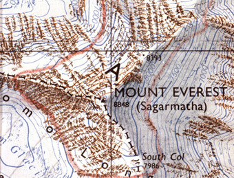 Image result for topographical map of everest