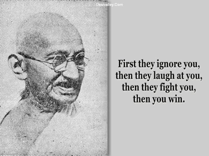 How You Win - Mahatma Gandhi