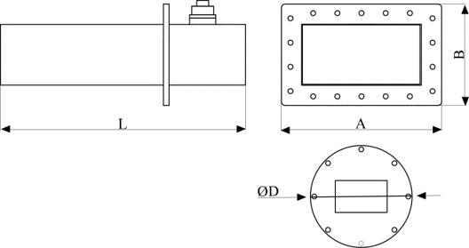 sonda falowodowa - wymiary