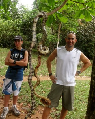 Snakes make you smile at Para Falls