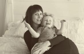 Haute Pink Photography in Spokane with daughter and grandson