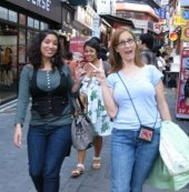 Friends in Korea shopping.