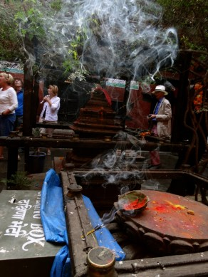fresh vegetation and incense