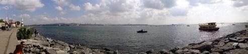 Water's edge in Istanbul Turkey