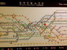 Metro map clearly labeled