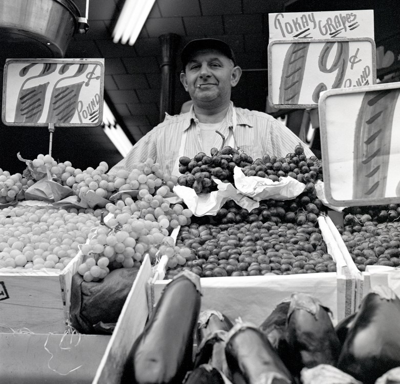 Grape Vendor © Martin Elkort