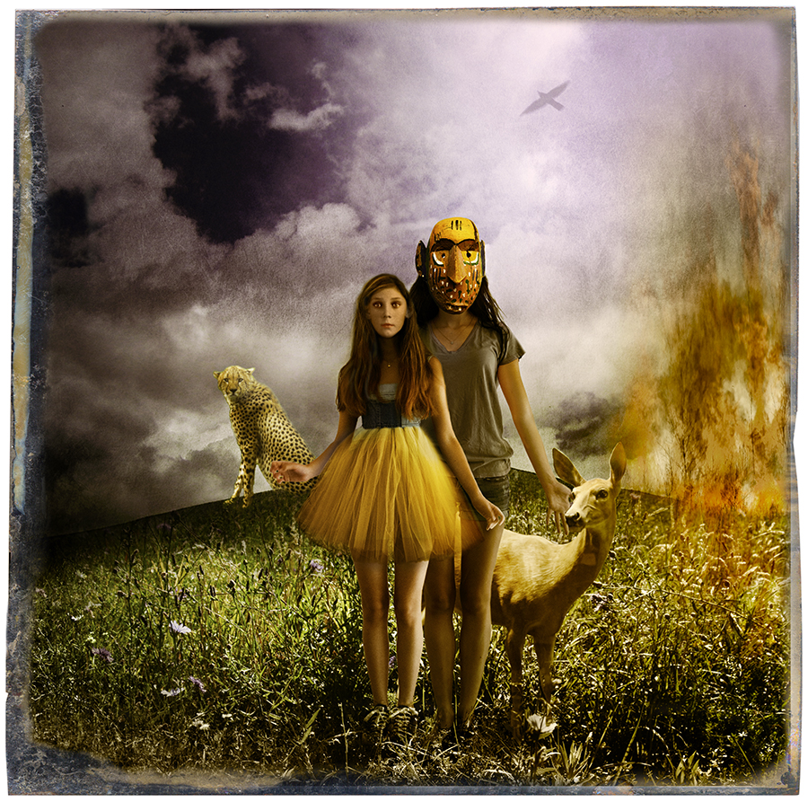 Two GIrls, a Cheetah and a Deer © Fran Forman