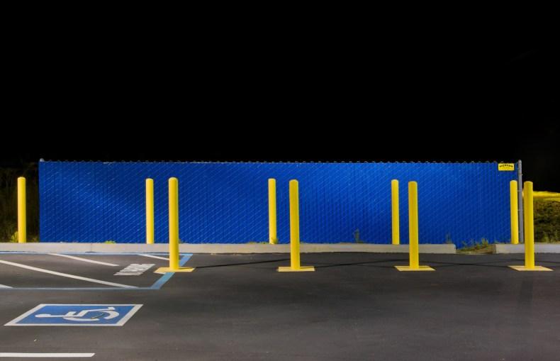 Blue Fence © Caroline Thompson