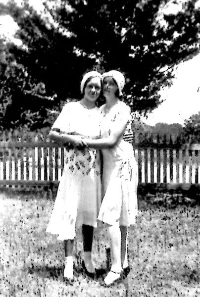 Mary Grahmann, (on the left)/ Pat Brown