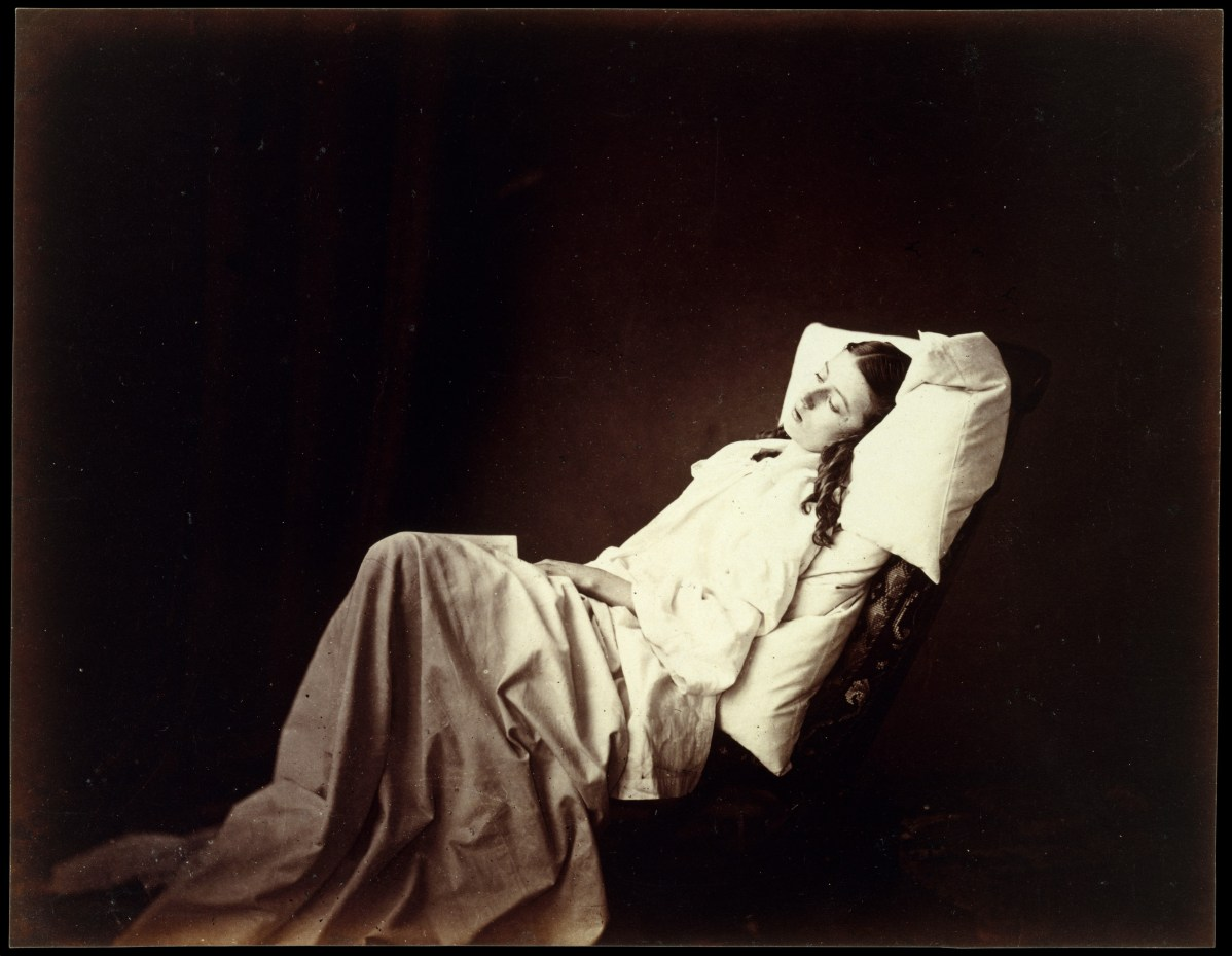 She Never Told Her Love by Henry Peach Robinson, Albumen silver print from glass negative, 1897