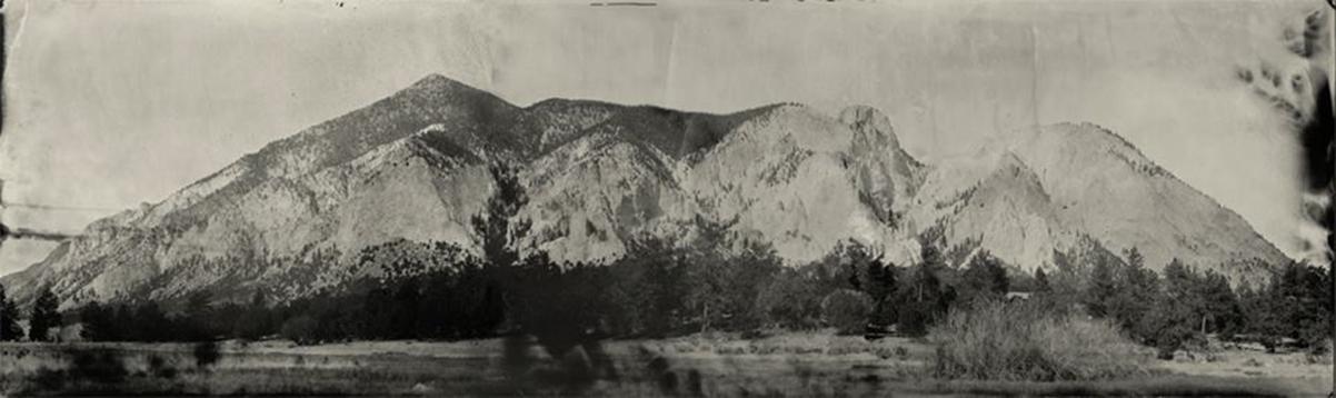 Chalk Cliffs, tintype,collodion ©Denis Roussel