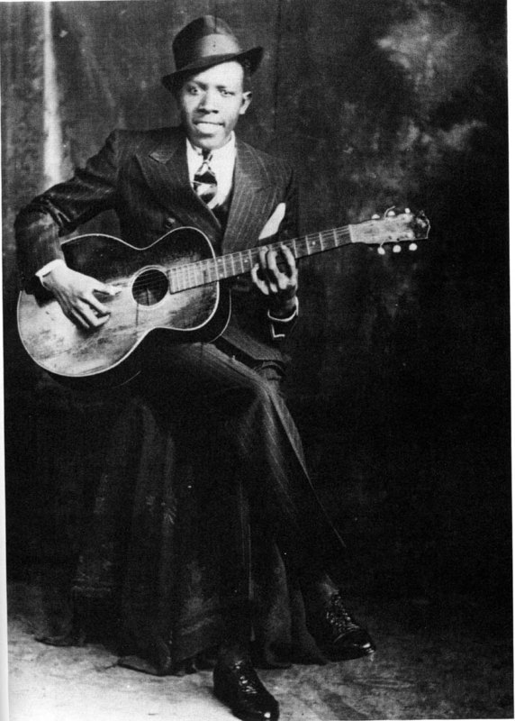 Robert Johnson - One of the three known images of the blues master.