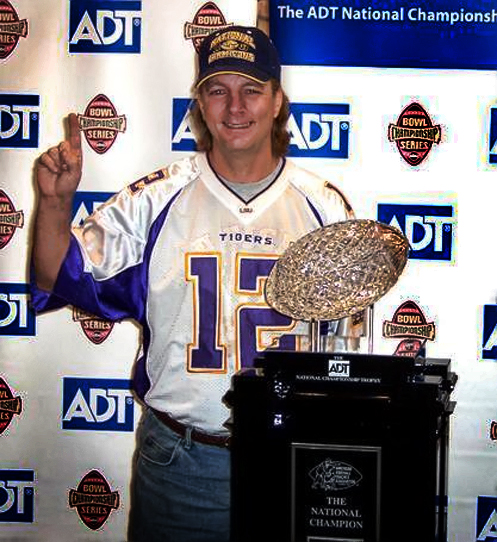 Me with LSU's 2003 Football National Championship Trophy