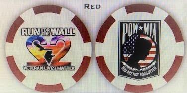Veterans Lives Matter 22 Poker Chip