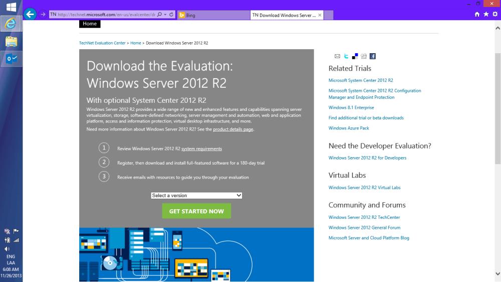 Descargando Windows Server 2012 R2 + SC [ISO] (1/6)
