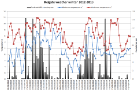 Reigate winter summary 2012-2013
