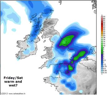 wet end of week for SE