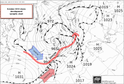 synoptic chart of UKstorm 27-28 October 2013