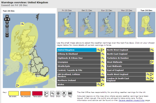UKMO warnings: watch these