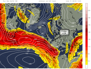 NW jetstream stays put this weekend